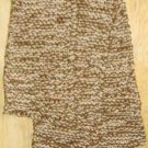 Hand Knit Scarve Light Creamy Beige and Brown 63 x 6""
