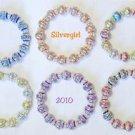 Shiny Sparkling Carved Color Aluminum Beaded Bracelet