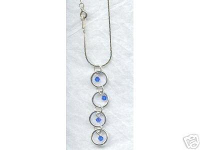 Firepolished Swarovski Sapphire Crystal Ring Necklace
