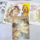 "5 Animal Note Cards w Envelopes 6 3/4  x 4 7/8"" IFAW"
