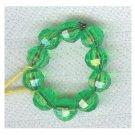 Bright Green Fun Beaded Ring  SIZE 6/7