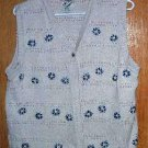 Northern Reflections Cotton Knit Sweater Vest SZ M/L