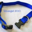 Adjustable Royal Blue Nylon Pet Collar