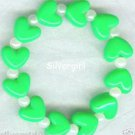 HEARTS DELIGHT Boutique Bead Bracelet Bright Green