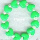 HEARTS DELIGHT Boutique Bead Bracelet Bright Green