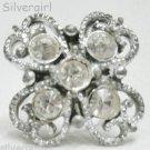 Fun Fashion Vintage Clear Rhinestone Sparkly Bead Ring SP
