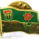 Vintage Saskatchewan Emblem Flower Western Red Lily Flag Pin