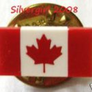 Canadian Red and White Maple Leaf Flag Tie Pin