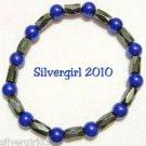 Magnetic Hematite Gemstone Bracelet Black Royal Purple