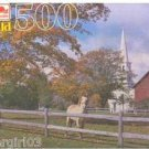Fall Scene Horse Barn Church 500 PC