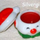 Hand Painted Ceramic Snowman Candle