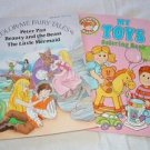 2 Coloring Books Fairy Tales My Toys