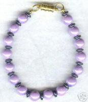 Purple Magnetic Hematite Bracelet With Clasp