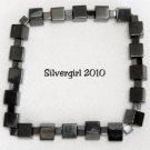 Black Magnetic Hematite Gemstone Stretch Bracelet