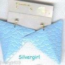1 Pair Light Blue DangleTriangle Pierced Earrings