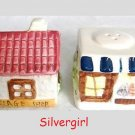 2 Piece VILLAGE SHOP Salt and Pepper Shakers