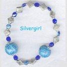 Cobalt Blue Turquoise Triangle Boutique Bracelet