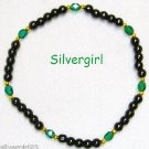 Magnetic Hematite Gemstone Bracelet Emerald Green