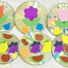 Flowers and Fruit Drink Coaster Set of 6