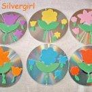 Spring Flower CD Disc Coaster Set of 6