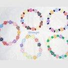 Multi Color Flowers Boutique Bead Stretch Bracelet