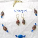 Illusion River Rock Necklace and Earring Set