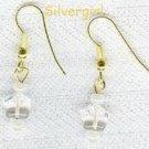 Dainty Czech Glass Star & Pearl Earrings