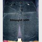 VINTAGE Slightly Wide Leg Black Cord Jeans