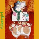 Christmas Snowmen Coaster Set of 6 Plus Holder