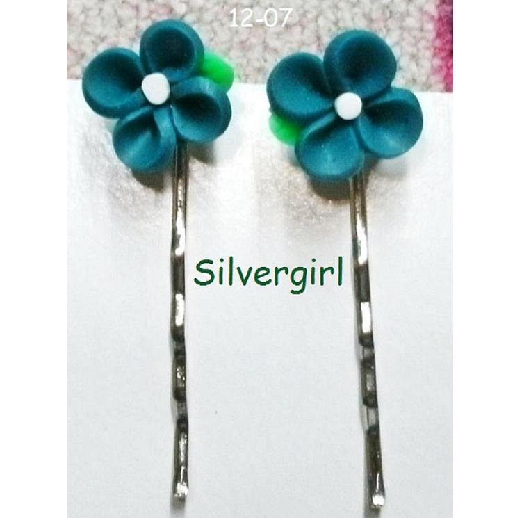 Pretty Flower Bobby Pins Little Girls Moms Small and Large Sizes