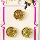 La Mode Vintage Silver Basket Shank Buttons