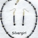 Therapeutic Magnetic Hematite Necklace Earring Set