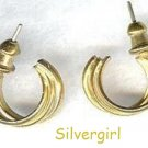 "3/4"" Gold Plate Fancy Hoop Earrings"
