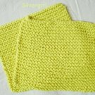 Soft Hand Knit Cotton Dish Face Cloths Yellow