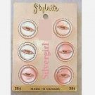 STYLRITE Pretty Pink Vintage Pearly Round Buttons