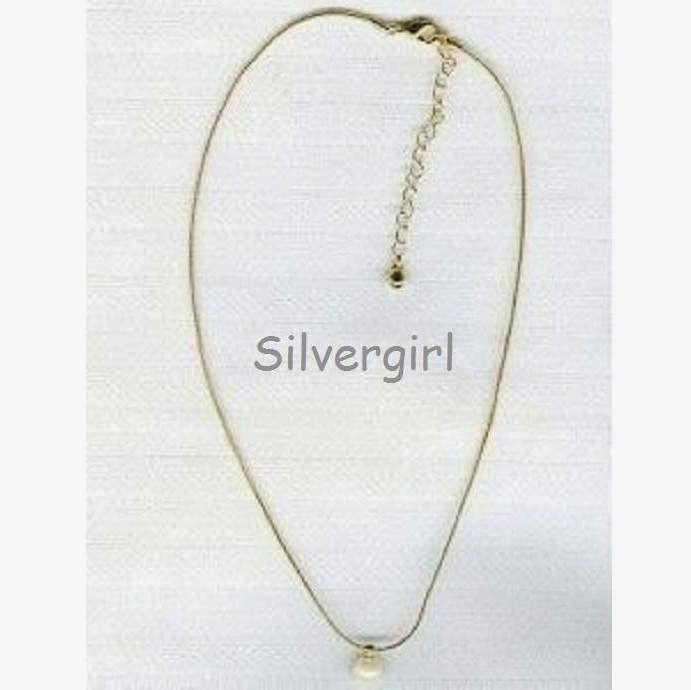 Avon Pearl Solitaire Adjustable Necklace
