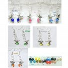 Hummingbird Pearch Cat's Eye Silver Plate Earrings   PICK YOUR COLOR