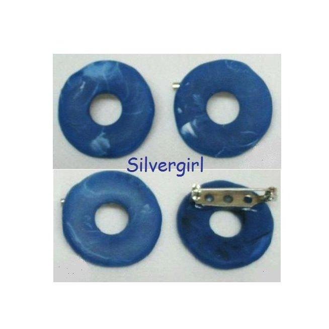Polymer Clay Denim Blue Splash Eye Glass Holder Pins