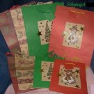 """Set of 8 Christmas Gift Bags 4-10 x 13"""": 4 7 X 9"""""""