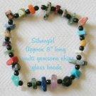 "8"" Semi Precious Gemstone Chip Bracelet"