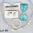 Little Girl's Jewelry Mix Necklace Earring Hair  LOT #1