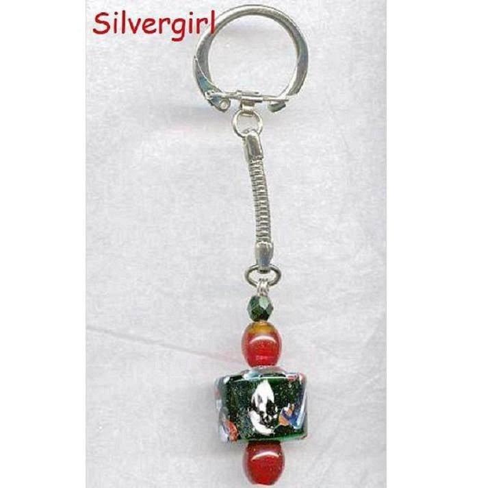 Venetian Millefiore Large Bead Key Chain