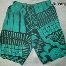 Green and Black Men's Boy's 100% Cotton Shorts  sz M