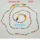 Colorful Rainbow Hand Beaded Eye Glass Chains #1