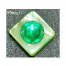 Fun Fashion Green Mother of Pearl Shell Bead Ring SP