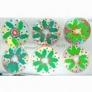 Handmade Holly Leaves Drink CD Disc Coasters Set of 6 OOAK
