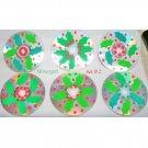 Holly Leaves Drink CD Disc Coasters Set of 6 OOAK #2