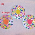 Drink CD Disc Coasters Set of 3 OOAK #2 Confetti