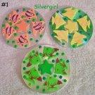 Handmade Drink CD Disc Coasters Set of 3 OOAK #1 Fish