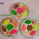 Handmade Drink CD Disc Coasters Set of 3 OOAK Fall Leaves #2